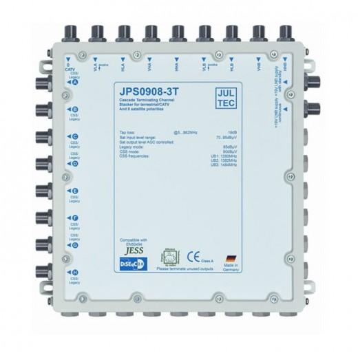 Jultec JPS0908-3T Einkabelumsetzer | 2 Satelliten | bis zu 24 Teilnehmer | Endkaskade