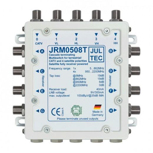 Jultec JRM 0508T Multischalter stromsparend | 1 Satellit | 8 Teilnehmer | Endkaskade