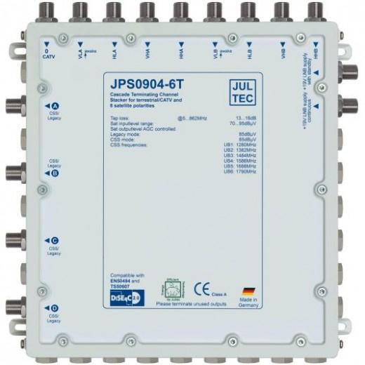 Jultec JPS0904-6T Einkabelumsetzer | 2 Satelliten | bis zu 24 Teilnehmer | Endkaskade