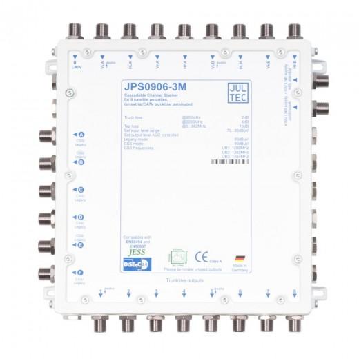 Jultec JPS0906-3M Einkabelumsetzer | 2 Satelliten | bis zu 18 Teilnehmer | kaskadierbar