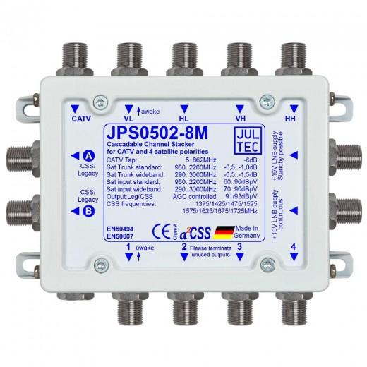 Jultec JPS0502-8M Einkabelumsetzer a²CSS konfigurierbar | 1 Satellit | bis zu 16 Teilnehmer | kaskadierbar