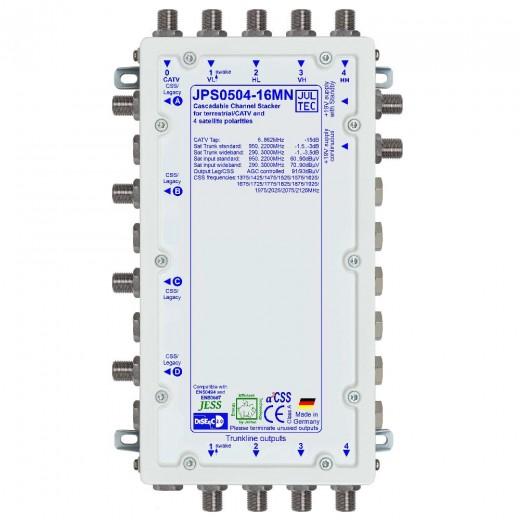 Jultec JPS0504-16MN Einkabelumsetzer a²CSS konfigurierbar | 1 Satellit | bis zu 64 Teilnehmer | kaskadierbar | Netzteil inklusive
