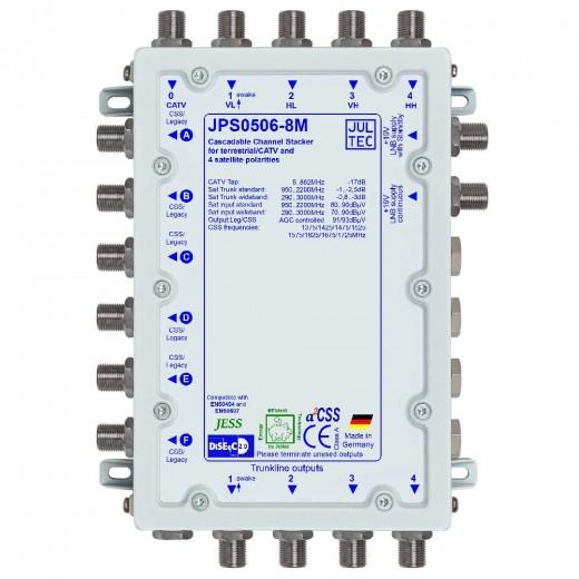Jultec JPS0506-8M Einkabelumsetzer a²CSS konfigurierbar | 1 Satellit | bis zu 48 Teilnehmer | kaskadierbar