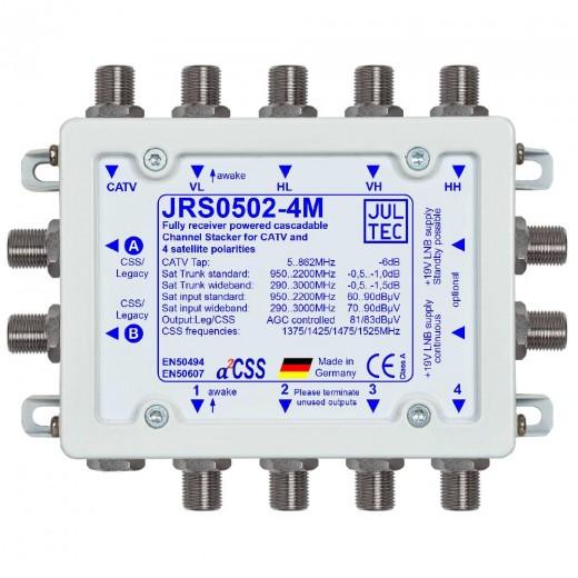 Jultec JRS0502-4M Einkabelumsetzer a²CSS konfigurierbar und stromsparend | 1 Satellit | bis zu 8 Teilnehmer | kaskadierbar