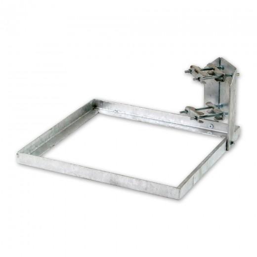 ASCI BSS 500 Balkonständer aus feuerverzinktem Stahl mit Doppelmastschelle ohne Mast