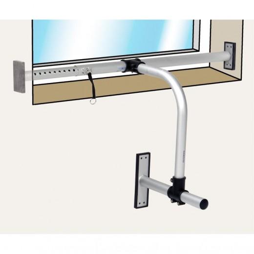 asci fhk 750 fenster klemm halterung f r sat antennen bis zu 75cm durchmesser. Black Bedroom Furniture Sets. Home Design Ideas
