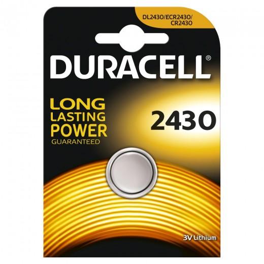 Duracell Lithium 2430 Knopfzelle | 3 Volt, CR2430, Spezialbatterie, 1er-Blister
