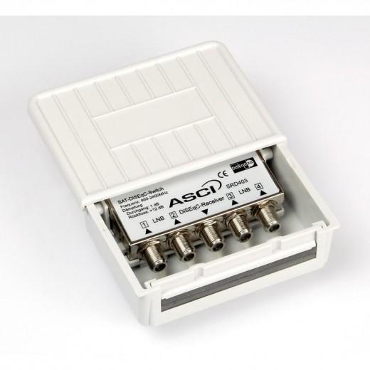ASCI SRD 403 Relais zur Umschaltung zwischen 4 LNBs oder Multischaltern durch DiSEqC