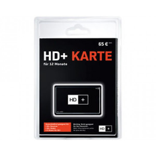 HD+ Karte für 12 Monate Freischaltung zur Verwendung in Receivern oder CI-Modulen