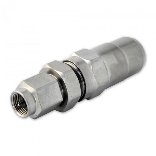 PPC B004-FM F-Stecker für RG11- und N71-Koaxialkabel mit einem Außendurchmesser von 9,8 - 10,3 mm