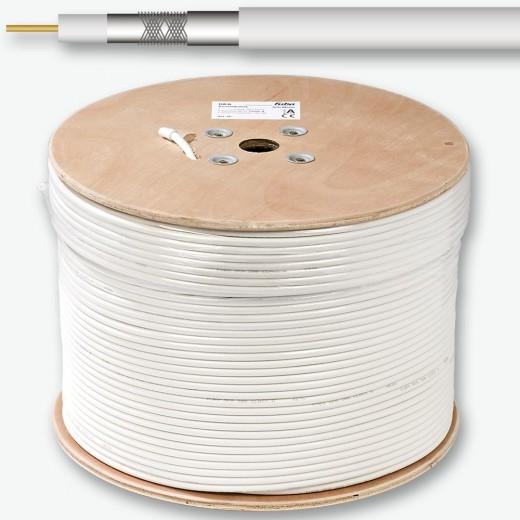 Fuba - GKA 350 Universal-Koaxkabel weiß,500m Trommel,ClassA,3-fach geschirmt