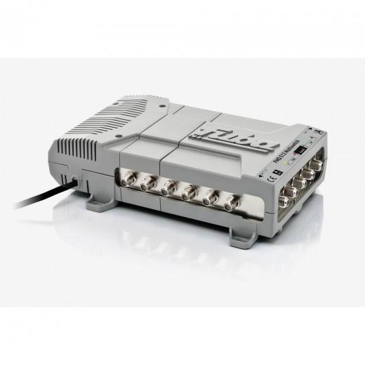 Fuba FMQ 512 Profi Sat-Multischalter 12 Teilnehmer | 5 in 12, HDTV-, UHD(4K)-,3D-tauglich, aktive Terrestrik
