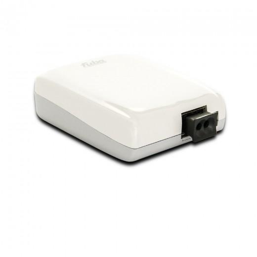 Fuba WebFiber 1130 Lichtleiter-Adapter Heimnetzwerk 1x POF 3x RJ45 1GBit/s