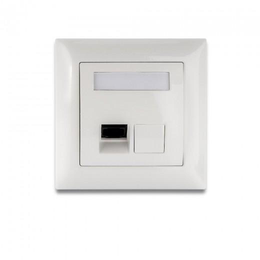 Fuba WebFiber WFD 100 Lichtleiter-Wanddose mit Lichtleiter- + SMI-Anschluss