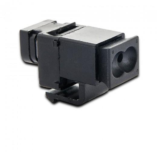 Fuba WebFiber WFK 110 Lichtleiter-Kupplung mit Lichtleiter- und SMI-Anschluss