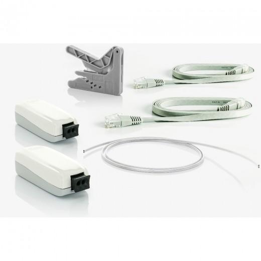 Fuba WebFiber Set 110 Lichtleiter-Adapter Set | 2x1110 + 20m WFL200 + WFW100