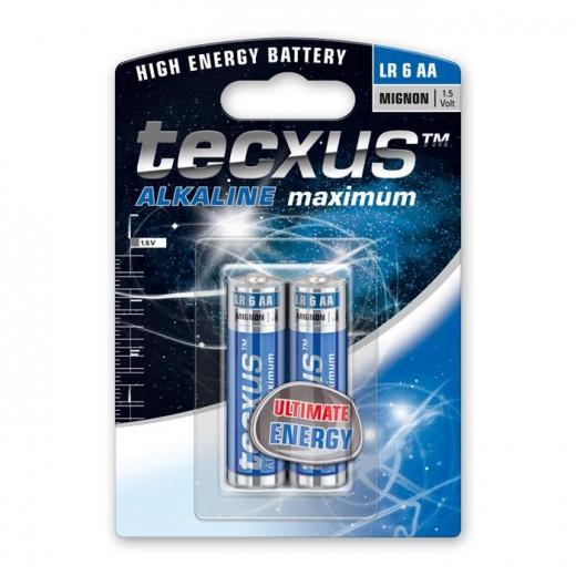 Tecxus Mignon LR6 Alkaline Batterie AA 1,5 Volt 2er Pack