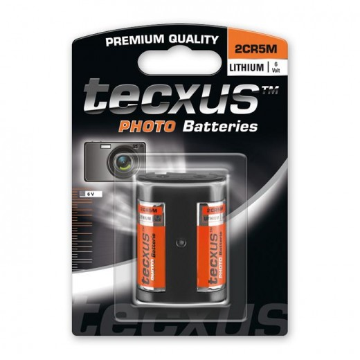 Tecxus 2CR5M 6V Photo Lithium Foto Batterie 6 Volt 1300 mAh