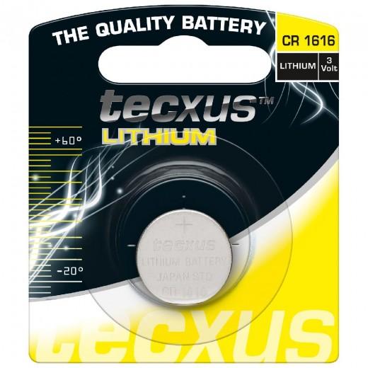 tecxus CR 1616 Knopfzelle Lithium,3,0V,55mA,Blister1