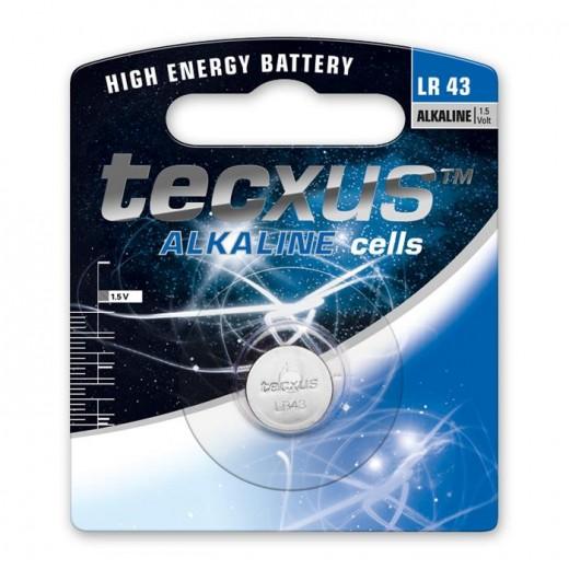 Tecxus LR 43 Alkaline Knopfzelle 1,5 Volt 100 mAh