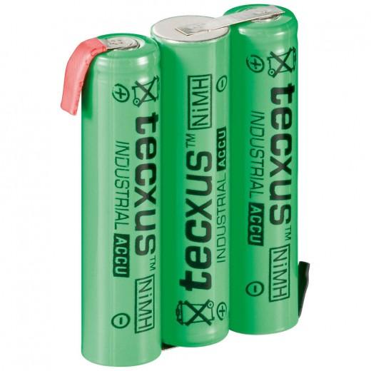 tecxus Micro/AAA ACCU-Pack m.Lötfahne 3,6V/800mA,NIMH,RTU