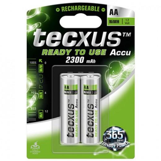 Tecxus Mignon AA NiMH RTU Akku 1,2 Volt 2300 mAh vorgeladen 2er Pack Blister