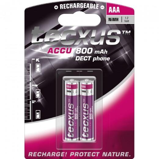 tecxus Micro/AAA ACCU NIMH,1,2V/800mA,DECT,Blister2