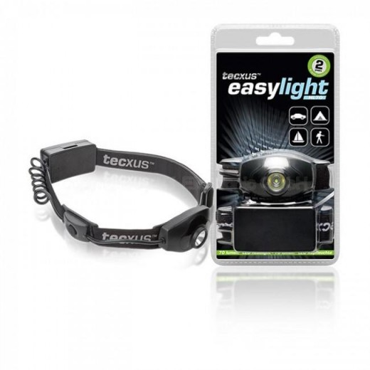 tecxus easylight HL 70 LED-Kopfleuchte,2x LR6,70 Lumen