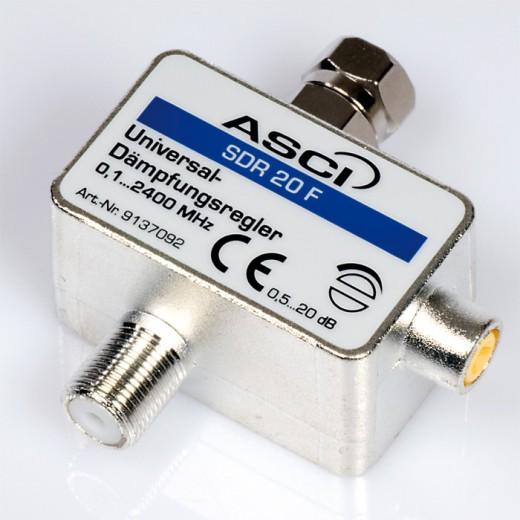 SDR 20 F Universal-Dämpfungsregler 0-20dB stufenlos einstellbar