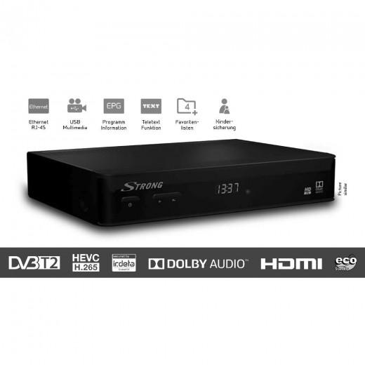 Strong SRT 8540 DVB-T2 HD Receiver mit Irdeto Entschlüsselung