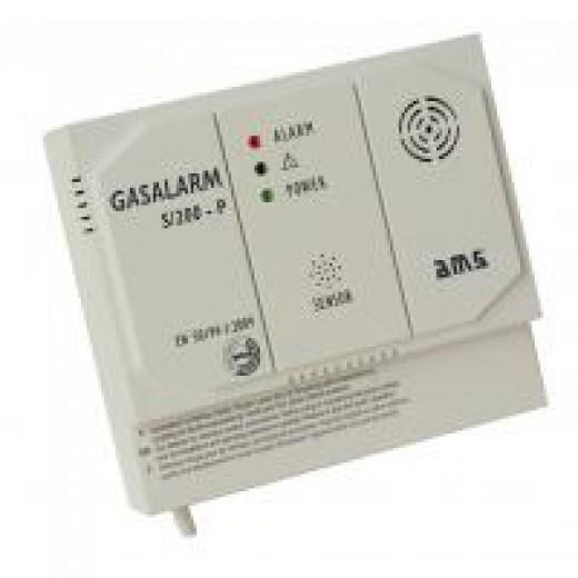 AMS S/200-P 230V Gasmelder 85 dB zur Warnung vor Methan-, Butan- und Propan-Gasen
