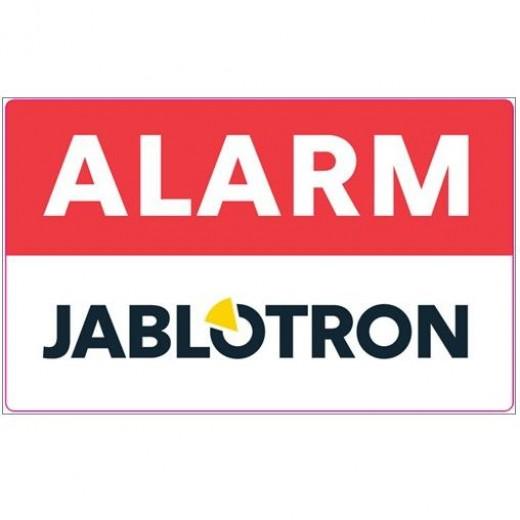 Jablotron Aufkleber Alarm, hinter der Scheibe