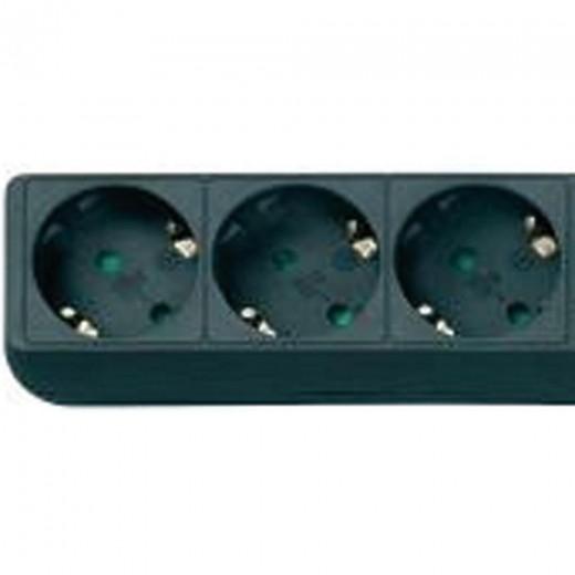 ASCI STD 301 schwarze 3-fach-Steckdosenleiste mit 1,40 Meter Kabel
