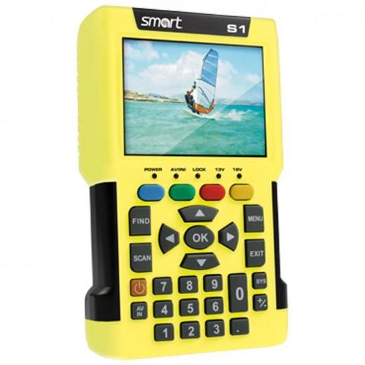 Smart Smartmeter S1 digitales Satelliten-Messgerät mit hochauflösendem 3,5 Zoll Farbdisplay