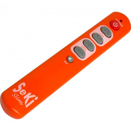 Seki Slim orange lernfähige Universal-Infrarot-Fernbedienung