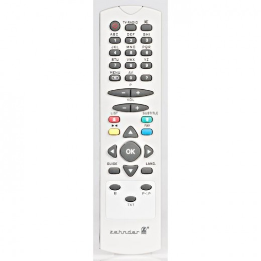 Zehnder FB 1500 Original-Fernbedienung für DX 1500, DX 1200, DX 560, TX 100, TX 200 und TX 60 Receiver
