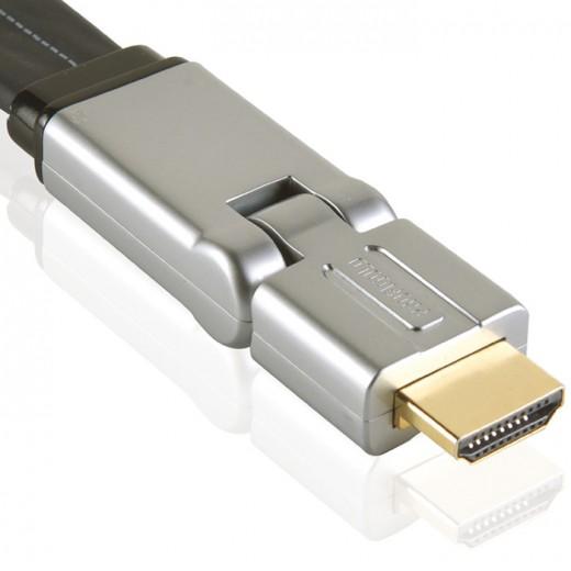 Profigold PROV 1302 (2,00 m) HDMI-A-Winkelstecker auf HDMI-A-Winkelstecker in 2,00m Länge.