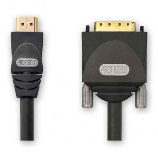 Profigold PGV 1102 (2,00 m) HDMI-A-Stecker auf DVI-D-Stecker in 2,00m Länge