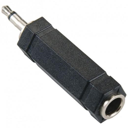 Bandridge AP036 (0,00m/Adapter) 3,5mm Klinken-Stecker Mono auf 6,3mm Klinken-Kupplung Stereo