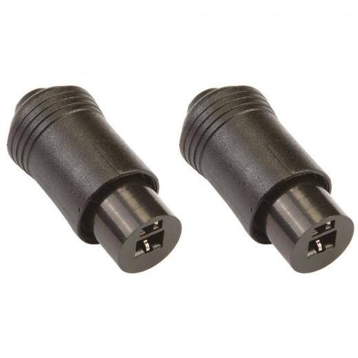 Bandridge PP 5220F (Set) 2pol Lautsprecherkupplung, 2x schwarz