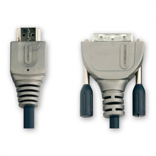 Bandridge VL1100 (0,50 m) HDMI-A-Stecker auf DVI-D-Stecker