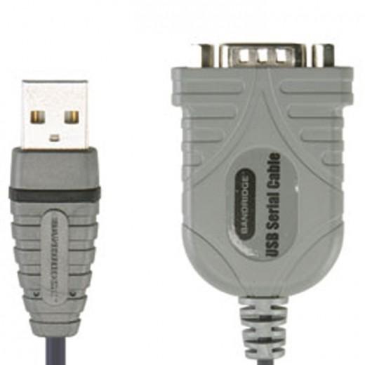 BANDRIDGE BCP 5002 Adapter 9Pin-Sub-D Stecker auf USB-A Stecker