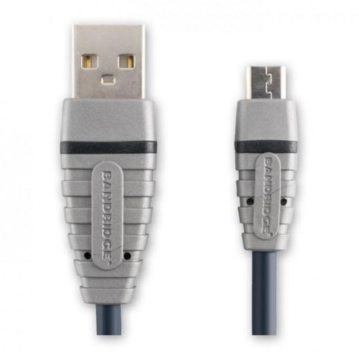 Bandridge BCL 4902 USB-Kabel USB-A Stecker auf Micro-USB 2,0 m