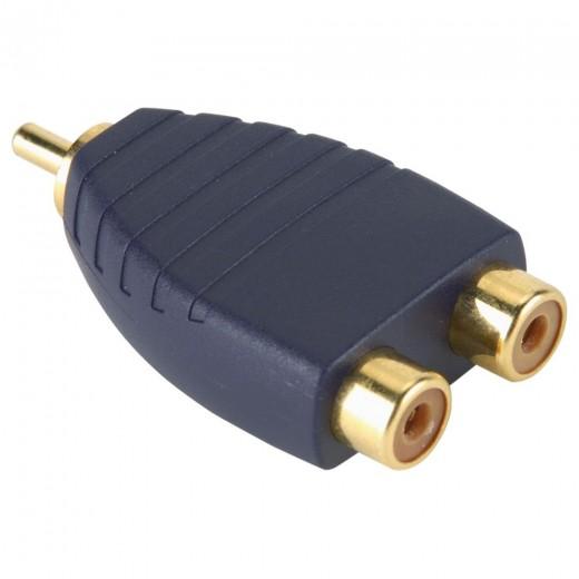 BANDRIDGE SAY 321 (0,00m/Adapter) 1 x Cinch-Stecker auf 2 x Cinch-Kupplung als Adapter