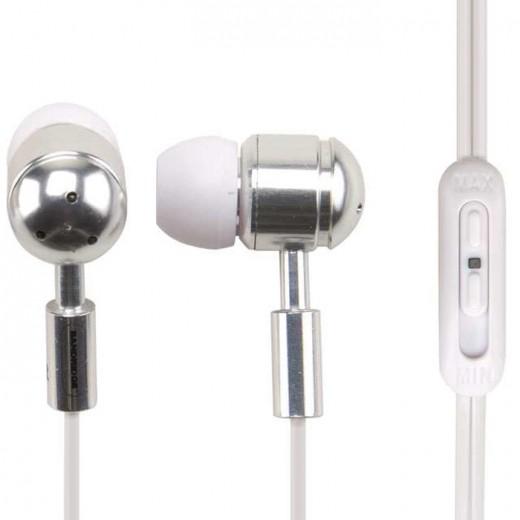 Bandridge SHP 141 (1,20 m) Weißer In-Ear-Ohrhörer mit Lautstärke-Regler
