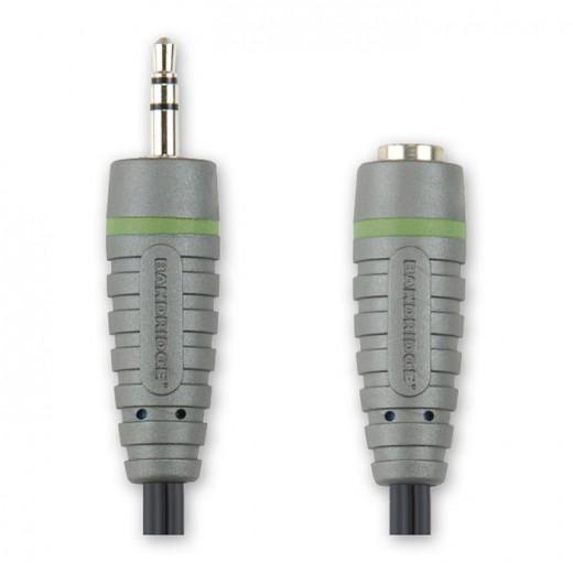 BANDRIDGE BAL 3605 (5,00 m) 3,5mm Klinkenstecker-Stereo auf 3,5mm Klinkenkupplung-Stereo in 5,00m Länge