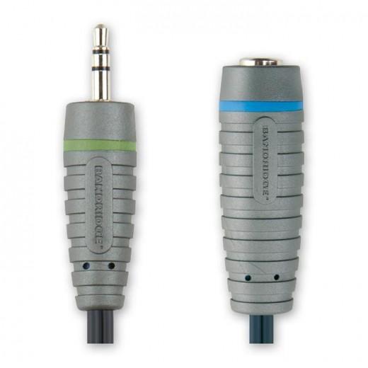 BANDRIDGE BAL 3700 (0,20 m) 3,5mm Klinkenstecker-Stereo auf 6,3mm Klinkenkupplung-Stereo in 0,20m Länge