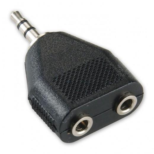 BANDRIDGE BAP 424 (0,00m/Adapter) 3,5mm-Klinkenstecker-Stereo auf 2 x 3,5mm-Klinkenkupplung-Stereo als Adapter