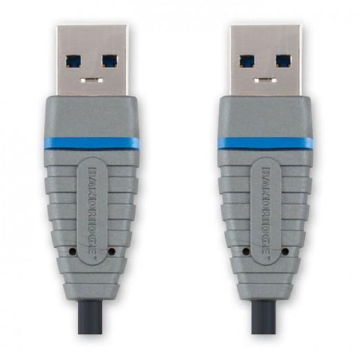 Bandridge BCL 5802 USB 3.0 SuperSpeed USB-Kabel 2,0 m vernickelte Kontakte USB A/A