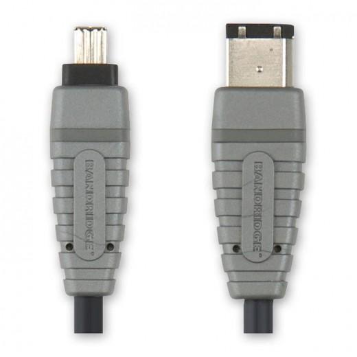 BANDRIDGE BCL 6202 Firewire 4Pin Stecker auf Firewire 6Pin Stecker 2,0 m vergoldete Kontakte
